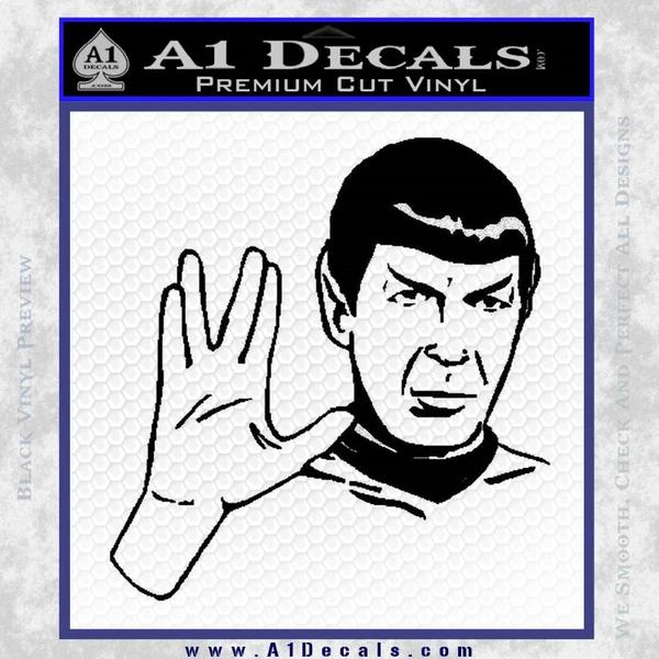 Star Trek Spock Decal Sticker Black Live Long And Prosper Vinyl