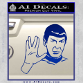 Star Trek Spock Decal Sticker Live Long And Prosper Blue Vinyl 120x120