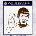 Star Trek Spock Decal Sticker Live Long And Prosper Brown Vinyl 120x120