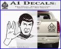 Star Trek Spock Decal Sticker Live Long And Prosper CFB Vinyl 120x97