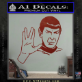 Star Trek Spock Decal Sticker Live Long And Prosper DRD Vinyl 120x120