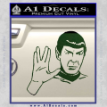 Star Trek Spock Decal Sticker Live Long And Prosper Dark Green Vinyl 120x120