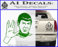 Star Trek Spock Decal Sticker Live Long And Prosper Green Vinyl 120x97