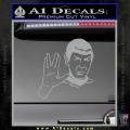 Star Trek Spock Decal Sticker Live Long And Prosper Grey Vinyl 120x120