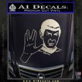 Star Trek Spock Decal Sticker Live Long And Prosper Metallic Silver Vinyl 120x120