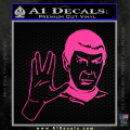 Star Trek Spock Decal Sticker Live Long And Prosper Neon Pink Vinyl 120x120