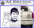 Star Trek Spock Decal Sticker Live Long And Prosper Purple Vinyl 120x97