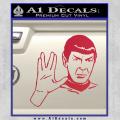 Star Trek Spock Decal Sticker Live Long And Prosper Red Vinyl 120x120