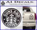 Starbucks Guns and Coffee Decal Sticker Carbon FIber Black Vinyl 120x97