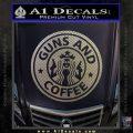 Starbucks Guns and Coffee Decal Sticker Carbon FIber Chrome Vinyl 120x120