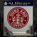 Starbucks Guns and Coffee Decal Sticker DRD Vinyl 120x120
