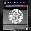 Starbucks Guns and Coffee Decal Sticker Gloss White Vinyl 120x120
