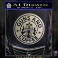 Starbucks Guns and Coffee Decal Sticker Metallic Silver Emblem 120x120