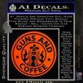 Starbucks Guns and Coffee Decal Sticker Orange Emblem 120x120