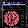 Starbucks Guns and Coffee Decal Sticker Pink Emblem 120x120