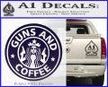 Starbucks Guns and Coffee Decal Sticker PurpleEmblem Logo 120x97