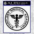 Starfleet Medical Academy Star Trek Decal Sticker Black Vinyl 120x120