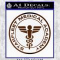Starfleet Medical Academy Star Trek Decal Sticker Brown Vinyl 120x120