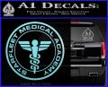 Starfleet Medical Academy Star Trek Decal Sticker Light Blue Vinyl 120x97