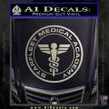 Starfleet Medical Academy Star Trek Decal Sticker Metallic Silver Vinyl 120x120