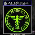 Starfleet Medical Academy Star Trek Decal Sticker Neon Green Vinyl 120x120