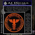 Starfleet Medical Academy Star Trek Decal Sticker Orange Emblem 120x120