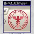 Starfleet Medical Academy Star Trek Decal Sticker Red Vinyl 120x120