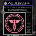 Starfleet Medical Academy Star Trek Decal Sticker Soft Pink Emblem 120x120