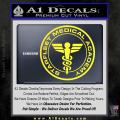 Starfleet Medical Academy Star Trek Decal Sticker Yellow Vinyl 120x120