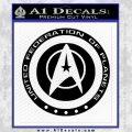 Starfleet Seal Alternate Reality Decal Sticker Black Vinyl 120x120