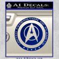 Starfleet Seal Alternate Reality Decal Sticker Blue Vinyl 120x120