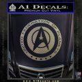 Starfleet Seal Alternate Reality Decal Sticker Carbon FIber Chrome Vinyl 120x120
