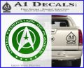 Starfleet Seal Alternate Reality Decal Sticker Green Vinyl Logo 120x97