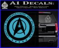 Starfleet Seal Alternate Reality Decal Sticker Light Blue Vinyl 120x97