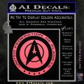Starfleet Seal Alternate Reality Decal Sticker Pink Emblem 120x120