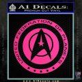 Starfleet Seal Alternate Reality Decal Sticker Pink Hot Vinyl 120x120