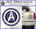 Starfleet Seal Alternate Reality Decal Sticker PurpleEmblem Logo 120x97