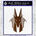 Stargate Anubis Head Decal Sticker Brown Vinyl Black 120x120