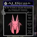 Stargate Anubis Head Decal Sticker Soft Pink Emblem Black 120x120