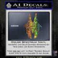 Stargate Anubis Head Decal Sticker Spectrum Vinyl Black 120x120