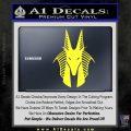 Stargate Anubis Head Decal Sticker Yellow Vinyl Black 120x120