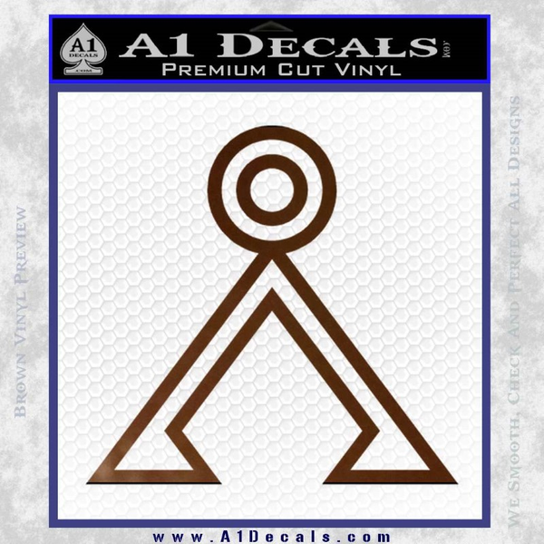 Stargate Decal Sticker Earth Symbol A1 Decals
