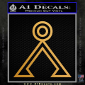 Stargate Decal Sticker Earth Symbol Gold Metallic Vinyl 120x120