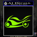 Street Bike Decal Sticker Neon Green Vinyl 120x120