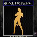 Stripper Panty Dropper JDM Decal Sticker Gold Metallic Vinyl 120x120