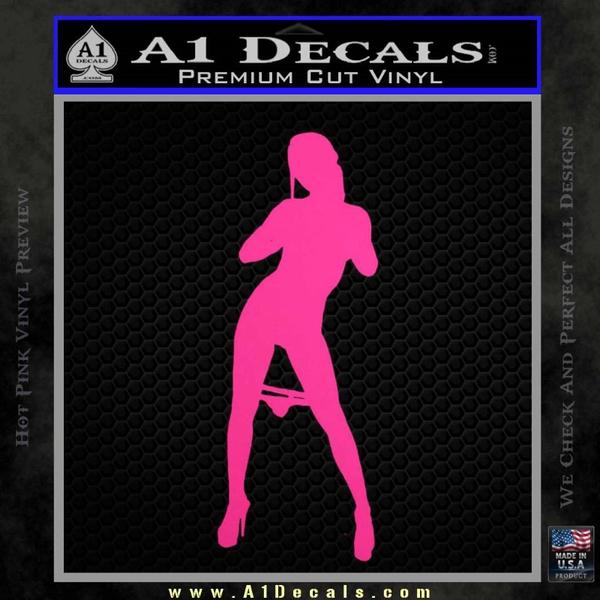 Stripper Panty Dropper JDM Decal Sticker Neon Pink Vinyl