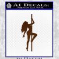 Stripper Pole Decal Sticker D1 Brown Vinyl 120x120