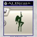 Stripper Pole Decal Sticker D1 Dark Green Vinyl 120x120