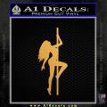 Stripper Pole Decal Sticker D1 Gold Metallic Vinyl 120x120