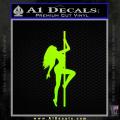 Stripper Pole Decal Sticker D1 Neon Green Vinyl 120x120